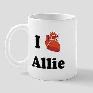I (Heart) Allie Mug