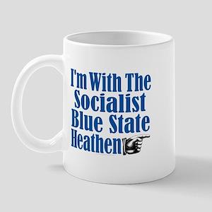 I'm With the Socialist Blue State Heathen Mug