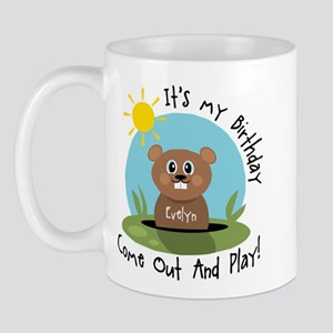 Evelyn birthday (groundhog) Mug