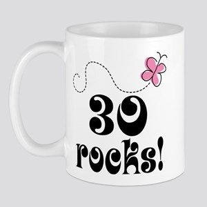 Cute 30th Birthday Butterfly Mug