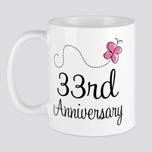 33rd Anniversary Butterfly Mug