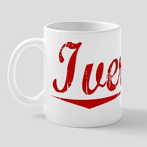 Iverson, Vintage Red Mug
