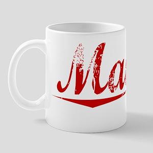 Madrid, Vintage Red Mug