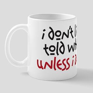what to do Mug