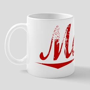 Mack, Vintage Red Mug