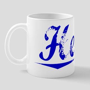 Hertz, Blue, Aged Mug