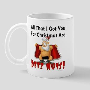 Santa Deez Nuts Mug Mugs