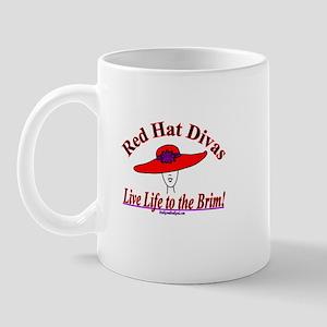 RED HAT DIVAS! Mug