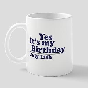 July 11 Birthday Mug