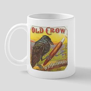 Old Crow Antique Cigar Label Victorian Vintage Adv