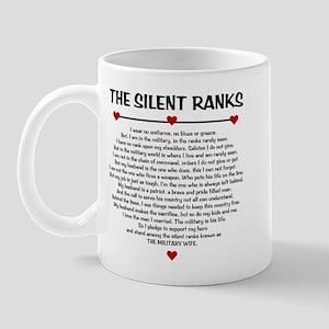 The Silent Ranks Poem Mug