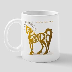 Alexandra gold and brown horse Mug