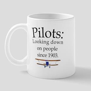 Pilots: Looking down on peopl Mug