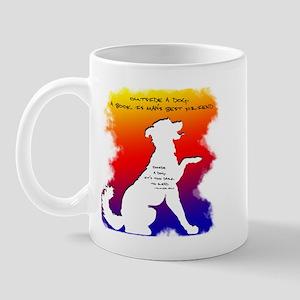 Too Dark to Read Rainbow Mug