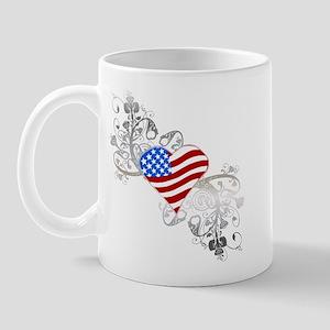 Independence Day Heart Mug
