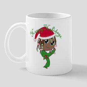 Kicking Spirit Happy Holidays A Mug