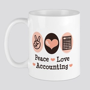 Peace Love Accounting Accountant Mug