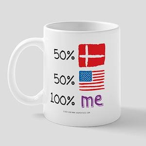 Denmark/USA Flag Design Mug
