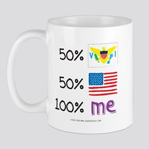 Virgin Islands/USA Flag Design Mug