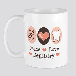 Peace Love Dentistry Dentist Mug