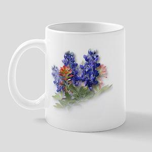 Bluebonnets with Indian Paint Mug