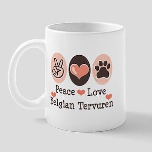 Peace Love Belgian Tervuren Mug