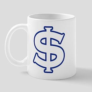 Dollar Sign Blue Mug