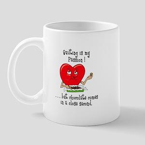 Quilting and Chocolate Mug