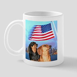 USA Dachshunds Mug