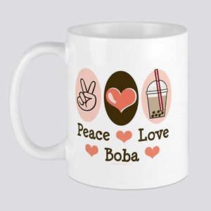 Peace Love Boba Bubble Tea Mug
