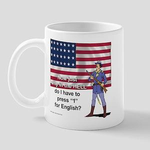 Press 1 for English? Mug