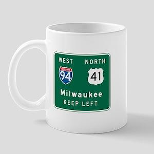 Milwaukee, WI Highway Sign Mug