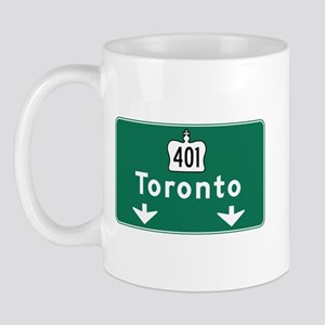 Toronto, Canada Hwy Sign Mug