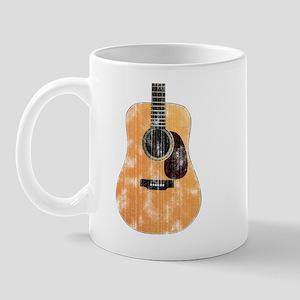 Acoustic Guitar (worn look) Mug