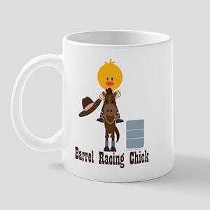 Barrel Racing Chick Mug