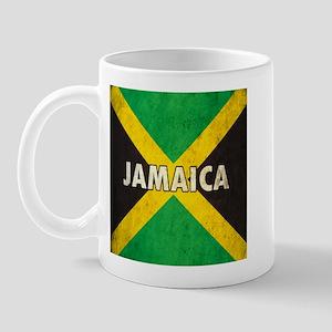 Jamaica Grunge Flag Mug