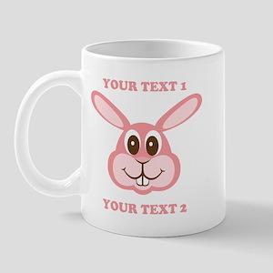 PERSONALIZE Pink Bunny Mug