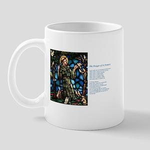 St Francis of Assisi and Peace Prayer Mug