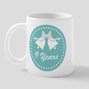 9th Anniversary Wedding Bells Mug