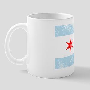 Chicago Flag Vintage Style Mugs