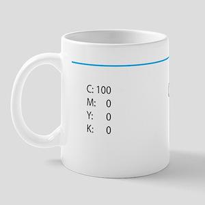 cyan_cmyk_mousepad Mug