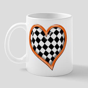 Orange Race Heart Mug