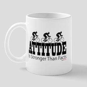 Attitude is Stronger Cycling Mug