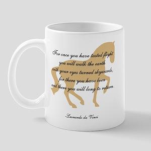 da Vinci flight saying - horse Mug