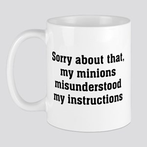 Sorry About Minions Mug