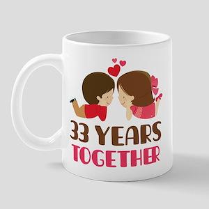 33 Years Together Anniversary Mug