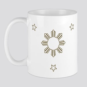 Filipino Sun and 3 Stars Mug