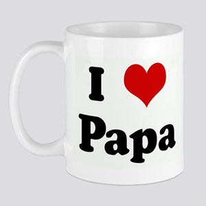 I Love Papa Mug