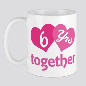 6th Anniversary Hearts Mug