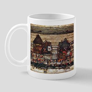 Egon Schiele Houses with laundry lines Mug
